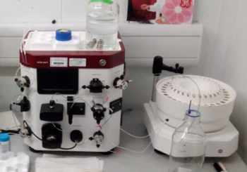 AKTA Start in lab for chromatography FPLC